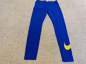 NIKE WOMEN`S BLUE COTTON LEGGINGS SIZE M
