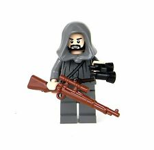German WWII Sniper Wehrmacht Minifigure Soldier (SKU24) made w/real LEGO®