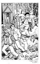 SUPERNATURAL 11x17 Illustration Original Art SAM DEAN WINCHESTER BOBBY CASTIEL