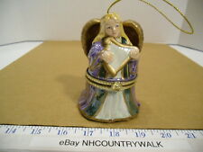 Hark the Herald Angels Sing Porcelain Angel Music Box Christmas Tree Ornament