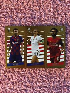 PANINI FIFA 365 2020 MESSI/MORGAN/SALAH STICKER NO 6