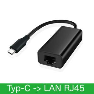 USB-C 3.1 auf RJ45 Ethernet Lan Adapter Hub Kabel Mac USB C Netzwerk NEU schwarz