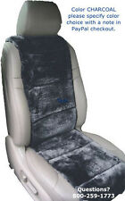 SHEEPSKIN SEAT COVERS 4 COLORS 2 SEAT VEST INSERTS HOOK/LOOP HEADREST OPENINGS ©
