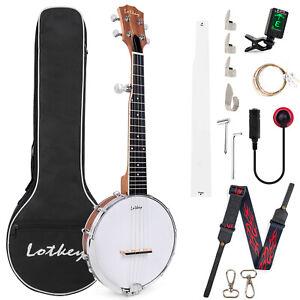 5 String Tenor Banjo 26 inch Open-Back Okoume Neck w/Bag for Beginner Gifts