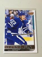 F47180  2018-19 Upper Deck #228 Travis Dermott YG RC Young Guns Maple Leafs