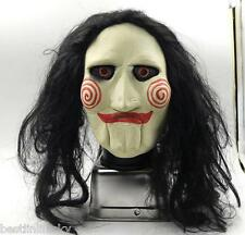 Film Saw black hair face Mask Latex masquerade Costume Scary Prank Scary Cosplay