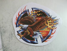 new large 190mm x 180mm flaming eagle motorcycle decal/stickers.