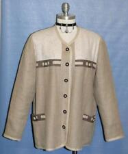 "BEIGE BROWN Jacket COTTON & LINEN Women German SUMMER Dress COAT 20 XL B50"""
