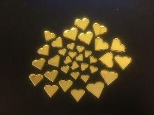 Mirror Art Craft Mosaic Tile Gold Acrylic Heart