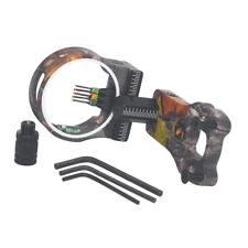 5 Pins Compound Bow Sight with 0.029'' Fiber Light Left and Right Hand Shooters