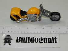 W.P. Choppers Tot Rod Yellow Motorcycle 2007 Sonic Wacky Pack Toy