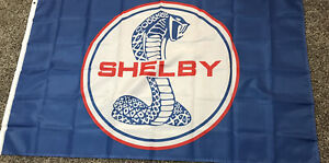 Ford Shelby Flag Banner 3x5 Ft Flag Garage Car Show Wall Gift New! Mustang