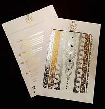 Savannah - Premium Luxury Gold Flash Metallic Temporary Tattoos By Unique Freak