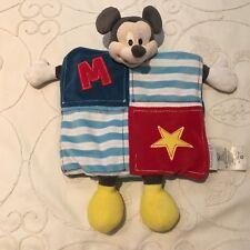Doudou Plat Marionnette Mickey Disney Baby Bleu Rouge Jaune étoile Disney Store