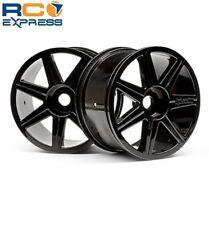 HPI Racing 7-Spoke Black Wheels Chrome Trophy Truggy HPI101156