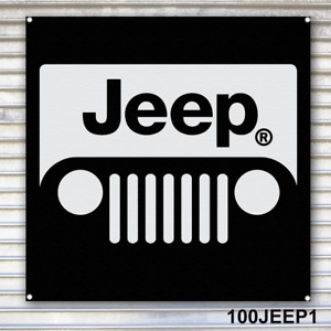 Jeep Banner Sign Garage