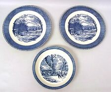 """Currier & Ives Tableware by Royal Two 12"""" Serving Platters & Serving Bowl"""