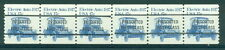 #1906a  17c Auto  NO Number Type A/B Precancel Gap Strip of 6