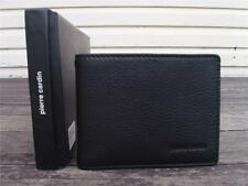 Pierre Cardin MENS SOFT ITALIAN LEATHER WALLET BLACK 10 SLOTS 1 NOTES PC8873