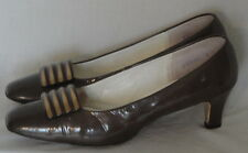 Vintage Brown Patent Leather Socialite Shoes 9