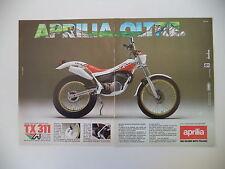 advertising Pubblicità 1987 MOTO APRILIA TX 311 M TRIAL