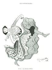 Publicité ancienne dessin de Cappiello 1981 issue du livre
