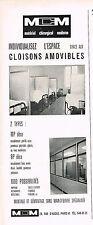 PUBLICITE ADVERTISING   1965   MCM   cloisons amovibles