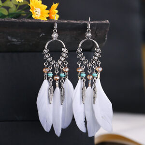 Boho Long Tassel Party Earrings Women Dangle Long Drop Tassel Trendy Fashion New