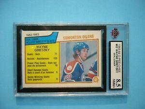 1983/84 O-PEE-CHEE NHL HOCKEY CARD 22 WAYNE GRETZKY LDR KSA 8.5 NMMT+ SHARP+ OPC