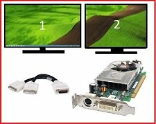 Dell Optiplex 740 780 790 SFF Low-Profile Dual DVI Monitors Video Card PCI-e x16