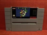 Super Mario World (Nintendo SNES, 1992) Tested Cleaned Pins Polished Cart Only