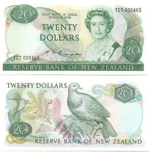 New Zealand - 20 Dollars 1981 - 1992 UNC Pick 173b Lemberg-Zp