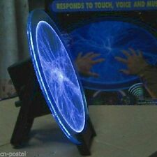 "12"" Blue Plasma Lightning Lamp Light Disk Plate Sound Response for Holiday Party"