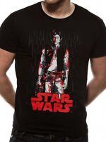 Star Wars Han Solo Tonal Line Official Last Jedi Episode 8 Black Mens T-shirt