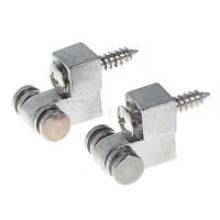 2 Sets of 4 Guitar Roller String Retainers Trees Guides For Strat Parts Chrome