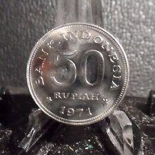 CIRCULATED 1971 50 RUPIAH INDONESIA COIN (73016)