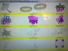 WEDDING EMBROIDERY DESIGN SETS & WEDDING FONTS IN PES ON CD