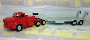 Code 3 Dinky Mighty Antar Low Loader in red and grey