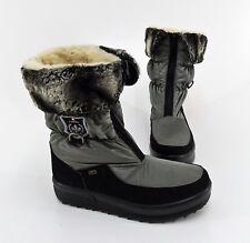 Stiefel Rieker Winter Boots Kunstleder Textil schwarz grau Gr. 42