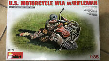 KIT MONTAGGIO MODELLINO SCALA 1:35 US MOTORCYCLE WLA w/RIFLEMAN MINIART 35179