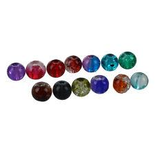 250 Round Multicolor Crackle Crystal Quartz Beads 6mm HOT G4R5