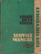 CHEVROLET,GMC C10,C20,C30,K10,K20,K30 PICK-UP,G VAN 1978 FACTORY SERVICE MANUAL