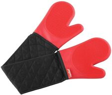 Unbranded Silicone Oven Mitts and Pot Holders in Double