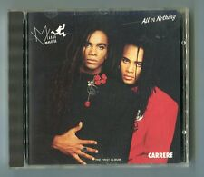 Milli Vanilli  cd  ALL OR NOTHING ( the 1st album)  © 1988 FRANCE press CARRERE
