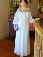 Luxury High-End Women's Dress Glitter Maxi Gold Beads Long Sleeve Dress Elegant