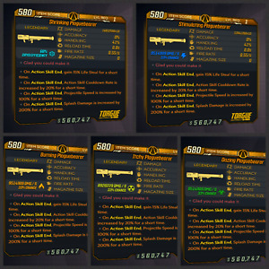 Borderlands 3 | Plaguebearer | ALL Elements | LVL 1 | Modded | XBOX / PS4