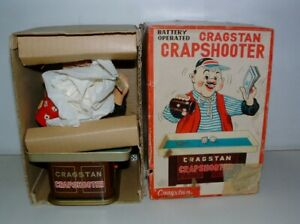 * 1960s CRAGSTAN BATTERY-OP TIN-LITHO CRAPSHOOTER WITH THE BOX
