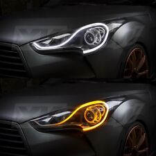 XKGlow LED DRL Turnsignal Strips Sequential Switchback Headlight XK043001-24