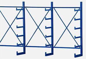 1,3m-7,3m Kragarmregal leicht, Langgutregal, ein-/doppelseitig B-Ware 50cm tief