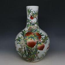 Great Chinese Qing Famille-Rose Porcelain Peach GlobularShape Vase